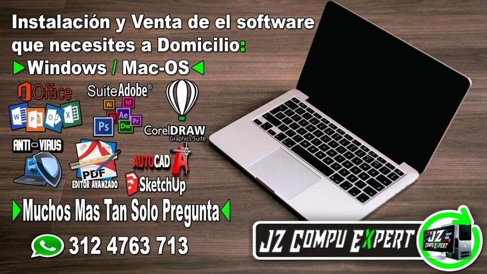 -instalación y Venta de el software que necesites a Domicilio