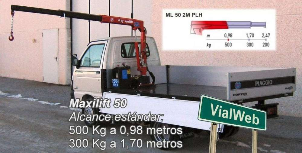 Hidrogrúa para camioneta o camión chico 500Kg