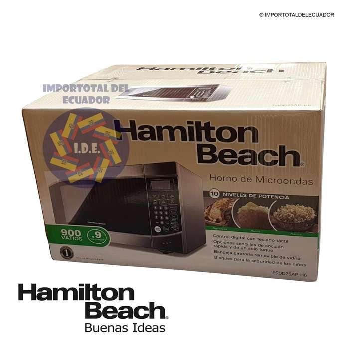 Horno de microondas cromado ''nuevo'' 25 litros mediano / 900 vatios / Hamilton Beach P90D25AP-H6 / 1 año garantía