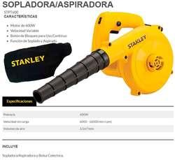 SOPLADORA / ASPIRADORA STANLEY NUEVO CON GARANTIA