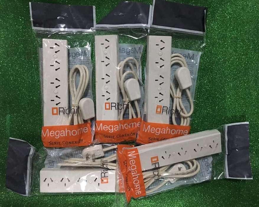 Zapatilla Prolongador 4 Tomas Richi 1,5 mts Cable C/termico