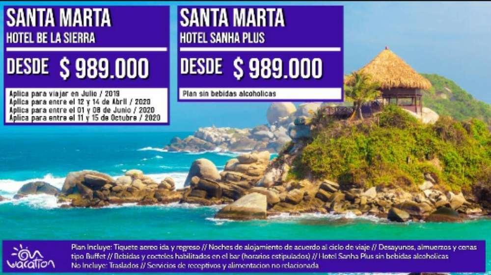 Viaja a Santa Marta con Todo Incluido