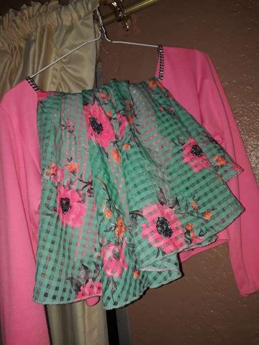 Blusa Media Pupera Y Falda Floral