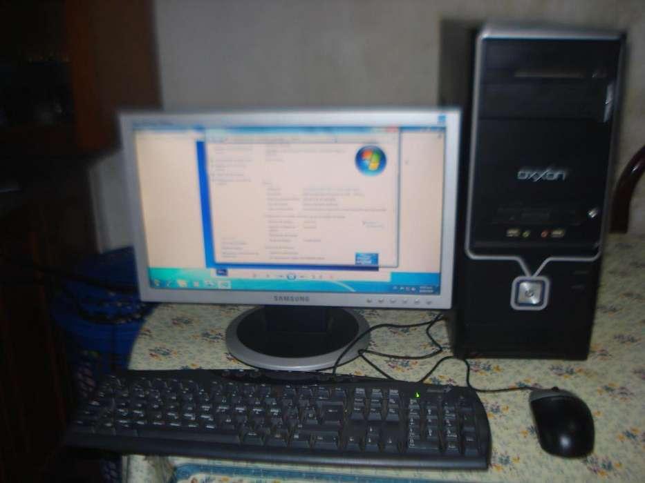 Computadora Completa Sempron Ram 2gb C/monitor Lcd 17 Samsung