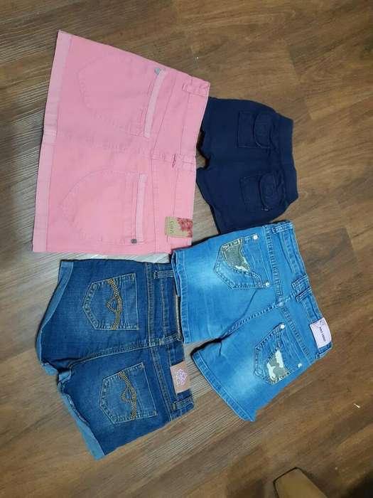 Polleras Y Shorts para Niños