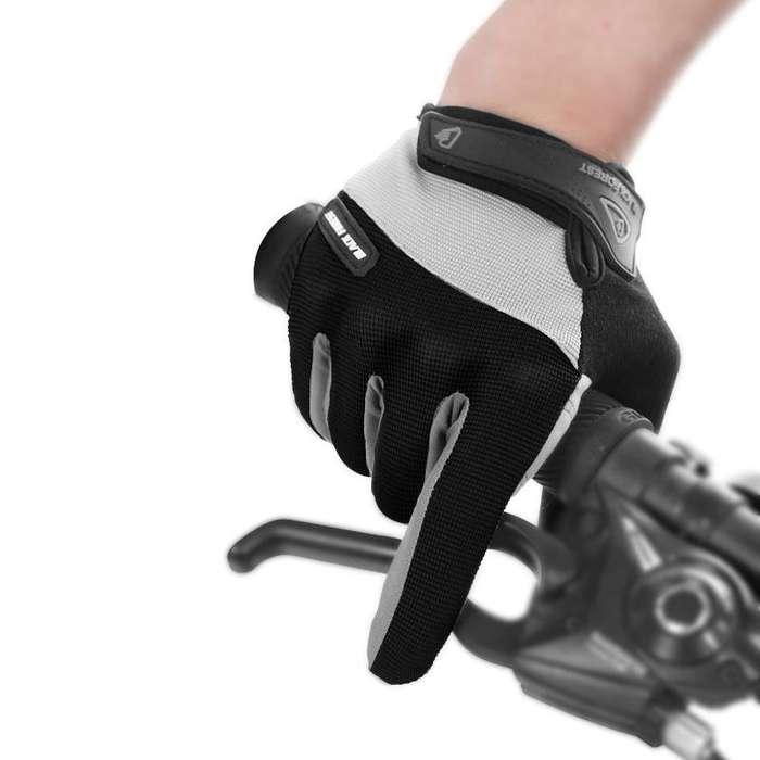Guantes de ciclismo Gel siliconado unisex, motocicleta, pantalla táctil nieve transpirable