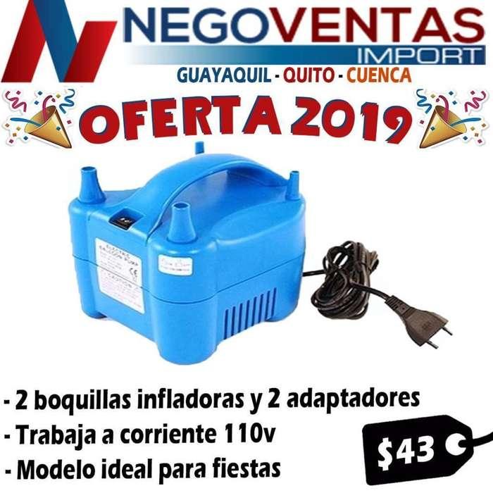 INFLADOR DE GLOBOS 4 BOQUILLAS