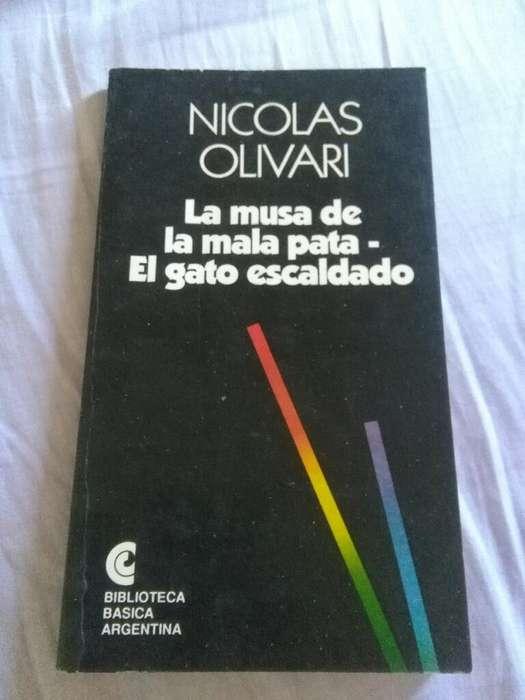 El Gato Escaldado . La Musa de La Mala pata . Nicolas Olivari . Libro