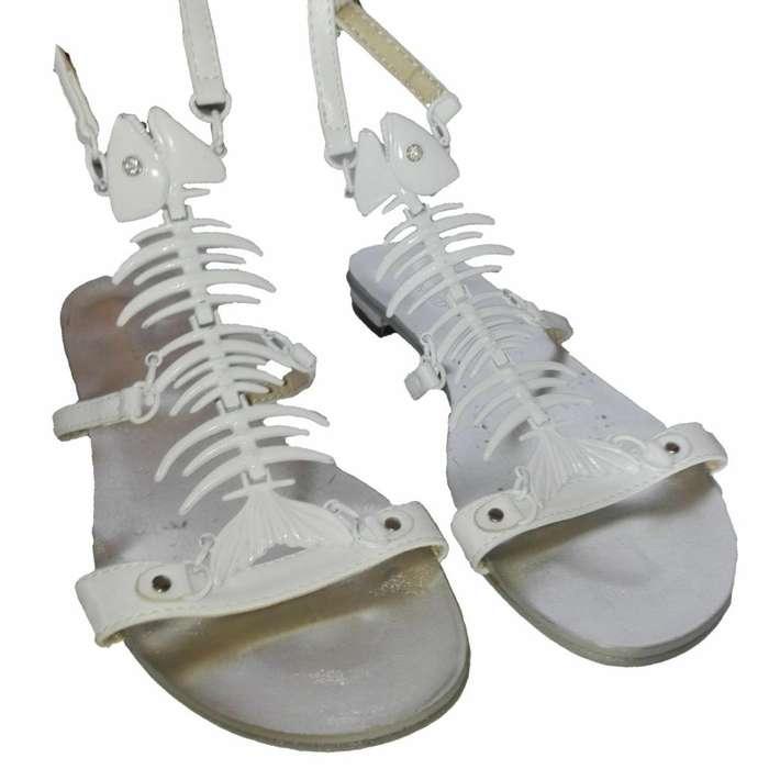 Sandalia Mujer talla 36 wanted Original Nuevo de EEUU Diseño Pescado Zapato moda Verano Regalo Navidad