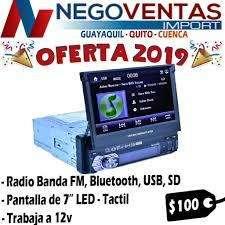 RADIO PARA CARRO RETRACTIL MP5 USB SD AUX REPRODUCTOR DE VIDEO PANTALLA 7 PULGADAS OPCION A CAMARA DE RETRO