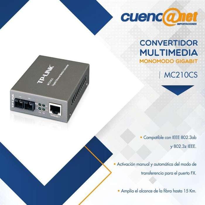 TPLINK MC210CS CONVERTIDOR SINGLEMODE SC 1000M RJ45 A 1000M