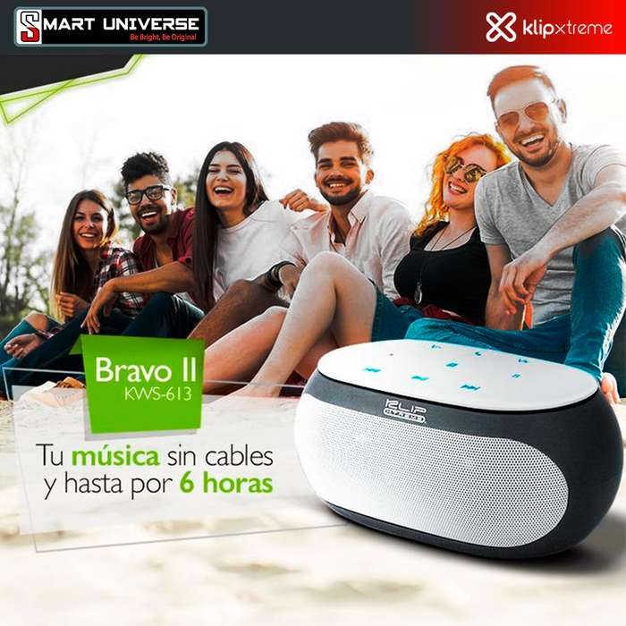 Parlante Inalámbrico Klip Xtereme Bravo II Bluetooth 6w B/N