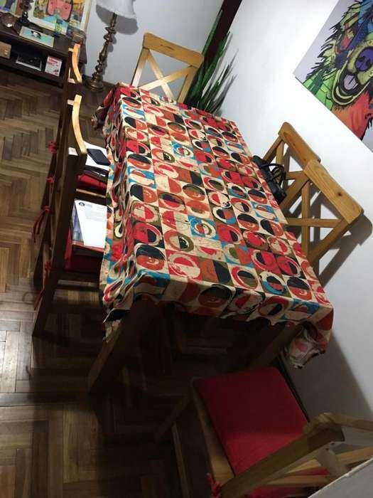 Vendo Mesa con <strong>silla</strong>s completa