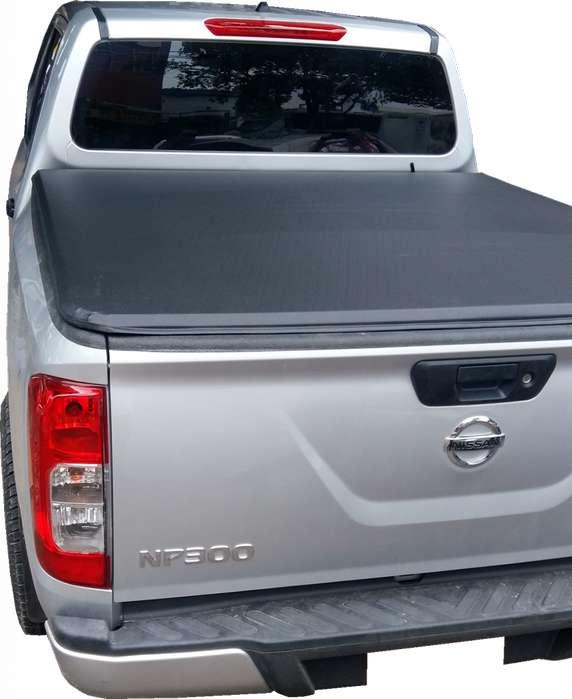 Carpa Plana Lona Nissan Frontier NP300 Con Marca Enrollable Riel Aluminio Camioneta Ref MC335 ¡Envío Gratis!