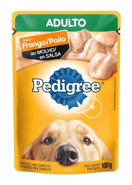 Pedigree Adulto Pollo en Salsa - 100gr/6 unidades