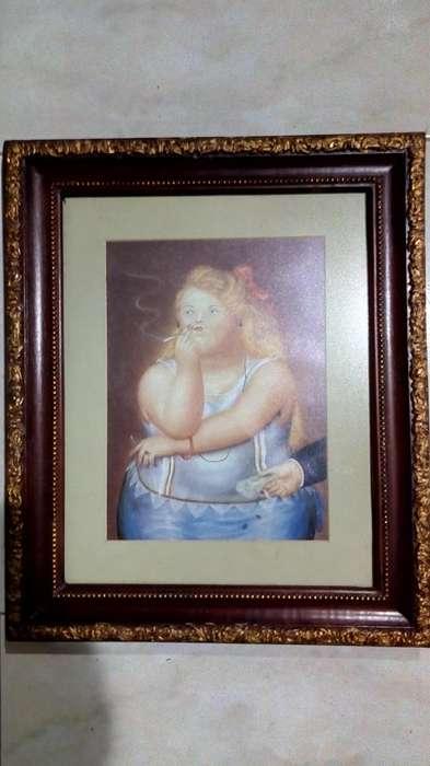 Cuadro Botero En Lamina, 43x38