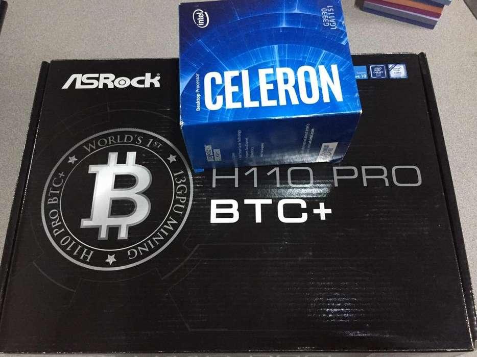 Combo Board Btc Y Celeron G3930 7Gener
