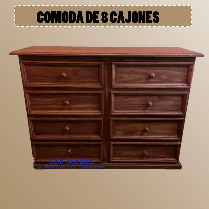 COMODA DE 8 CAJONES