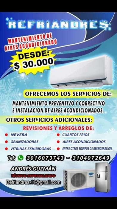 Mantenimiento de Aires Y Neveras.