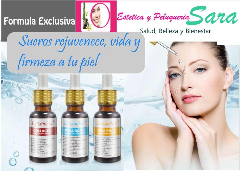 3 Sueros Blanqueador Vitamina ,Suero Hyaluronic ,Suero Anti Edad Colageno