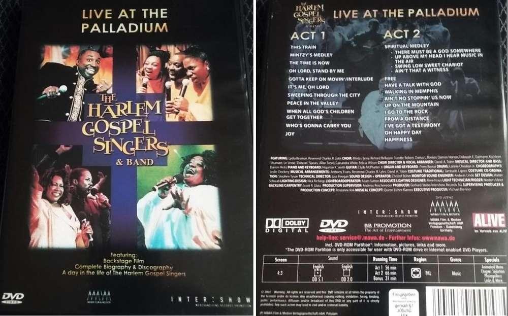 The Harlem Gospel Singers y su Banda En Vivo at The Palladium DVD original de 153 minutos Soul Funk Música Cristiana