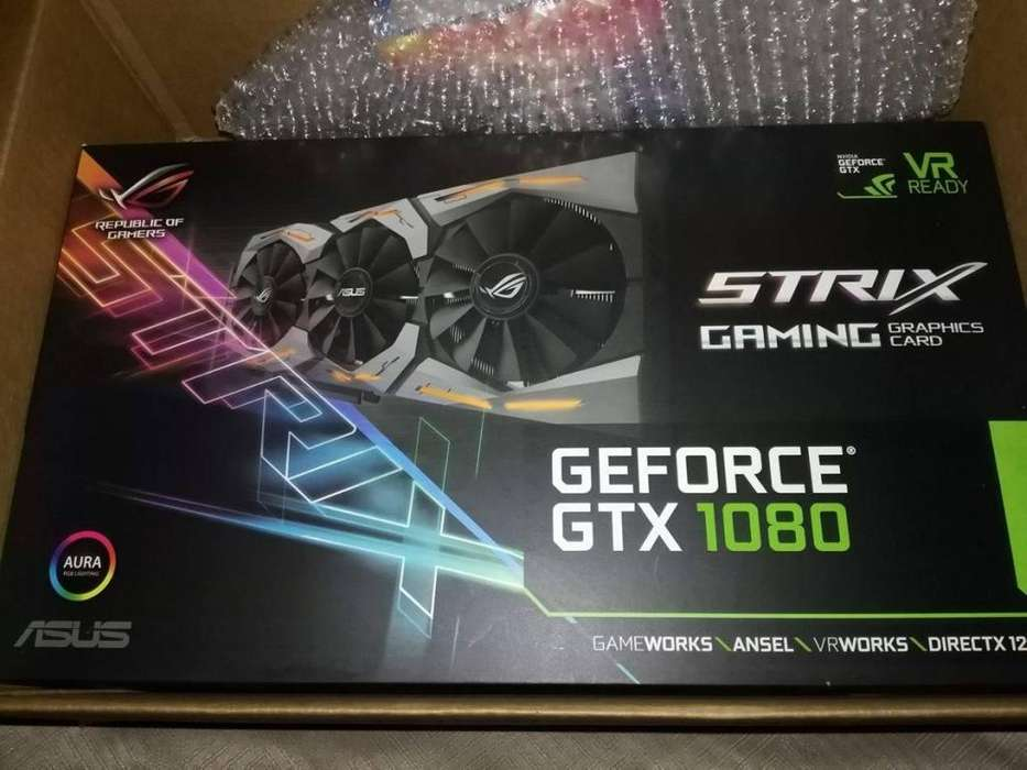 Trjeta de Video Gtx 1080 8gb Asus Strix