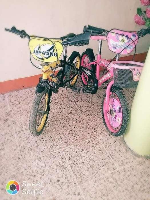 Vendo 2 hermosas bicicleta aro 16 nio