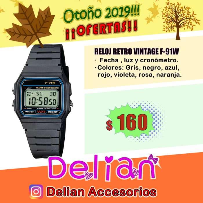 Reloj digital años 80's VINTAGE RETRO F91W