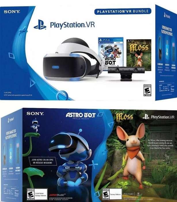 playstation vr nuevo sellado incluye camara dos juegos y el demo
