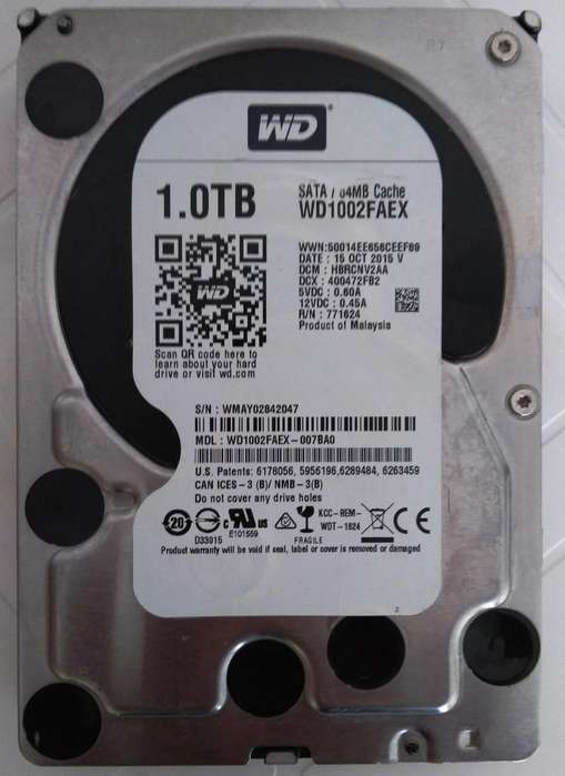 Disco Duro Interno Western Digital 1 Tb