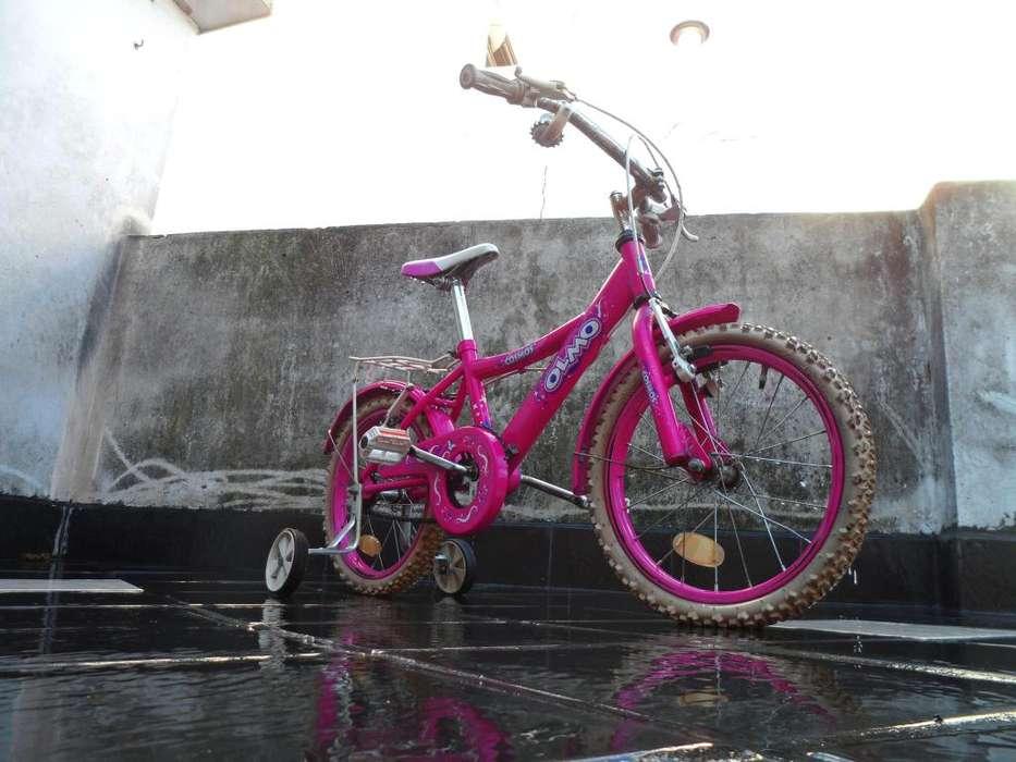Bicicleta rosa rodado 16
