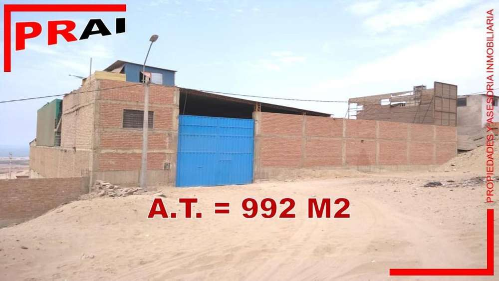 VENTA DE TERRENO LOCAL INDUSTRIAL EN VENTANILLA (992 M2)