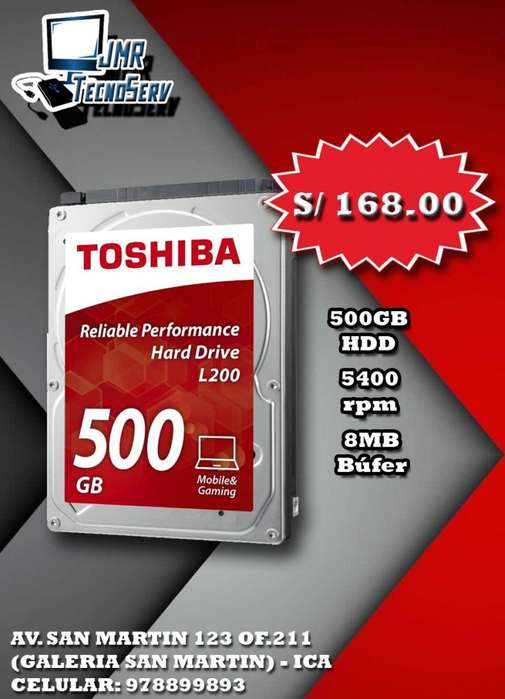 Disco Duro Laptop Toshiba 500GB