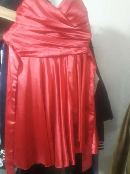 Vestido de Fiesta Fuxcia