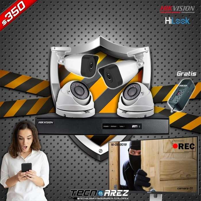 Super promo en cámaras de seguridad Hikvision