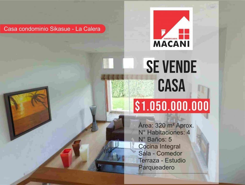 Se Vende Casa Conjunto Sikasue - La Calera (Cundinamarca),