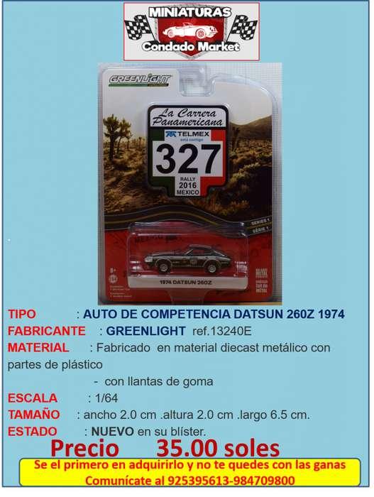 AUTO DE COMPETENCIA DATSUN 260Z 1974