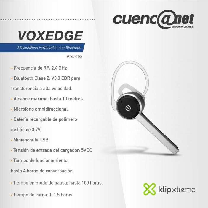 Vox Edge Mini Audífono <strong>bluetooth</strong> Khs-165 Klip Xtreme