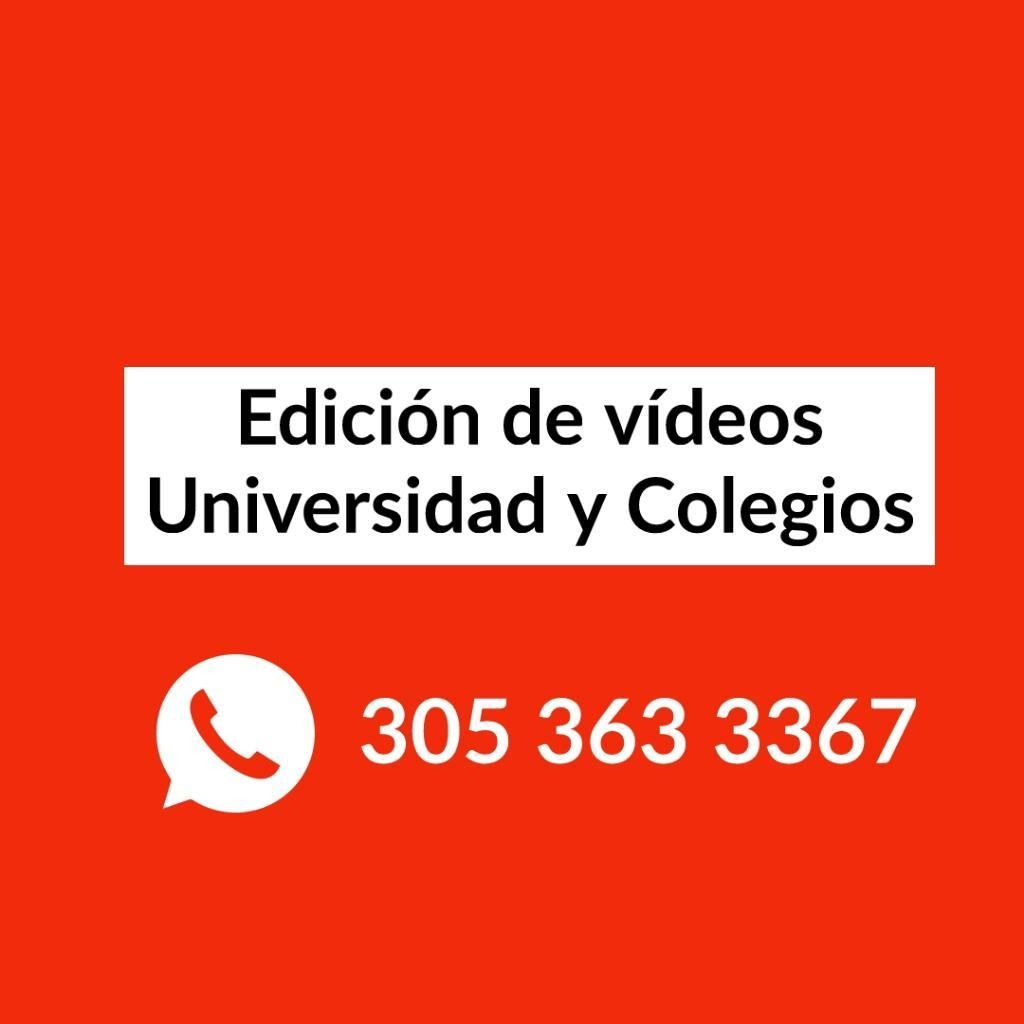 Edición Videos de Universidad
