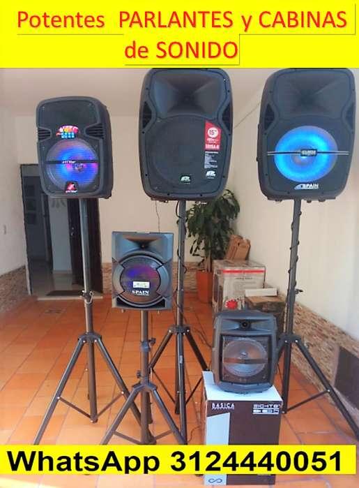 Potentes Parlantes y Cabinas de sonido SPAIN