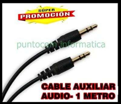 CABLE AUXILIAR PLUG 3.5 DE 1 METRO