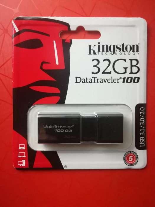 Memoria Kingston Digital 32GB 100 G3 USB 3.0 DataTraveler