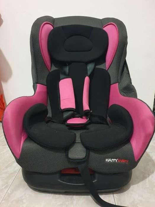 Silla Carro Para Bebé Color ROSADO Marca Happy Baby