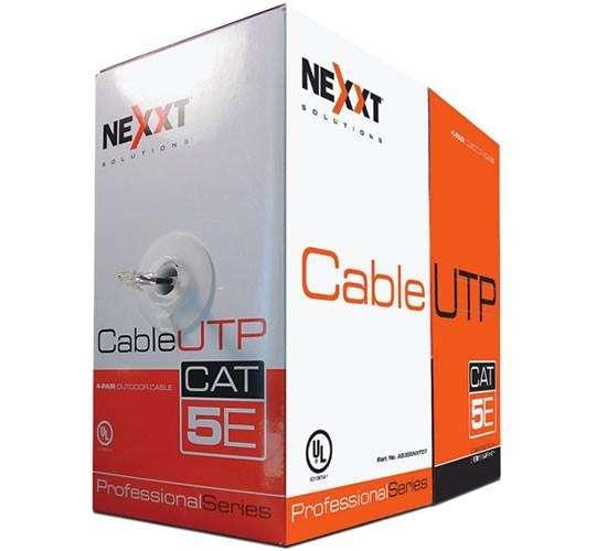 Cable Red Utp Nexxt Cat 5e 305m Interior Certificado Gigabit