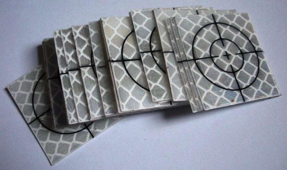 Tarjetas adhesivas reflectivas de 30x30mm