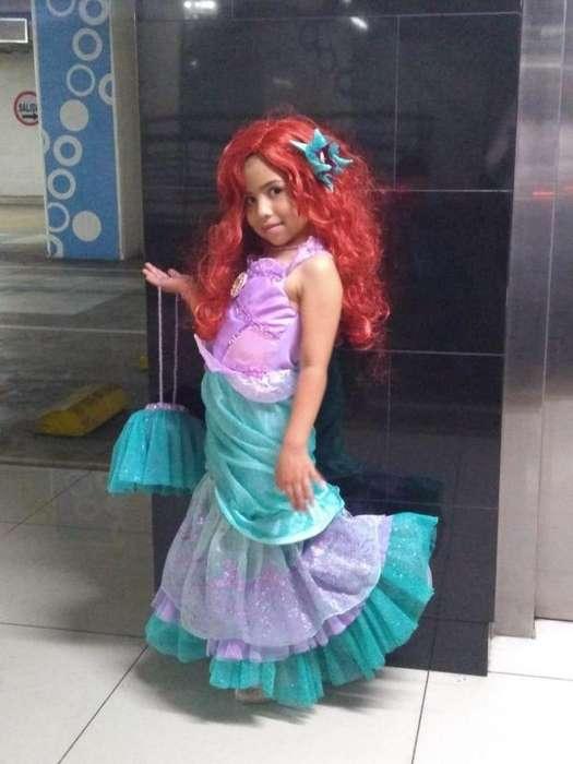 Disfraz sirenita Ariel completo