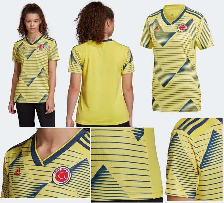 Camiseta Oficial Selección Colombia 2019 Mujer Talla L Adidas
