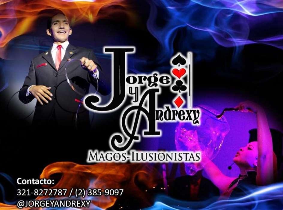 Show de Magia y Burbujas. MAGOS JORGE Y ANDREXY. Magos en Cali. 321-8272787.