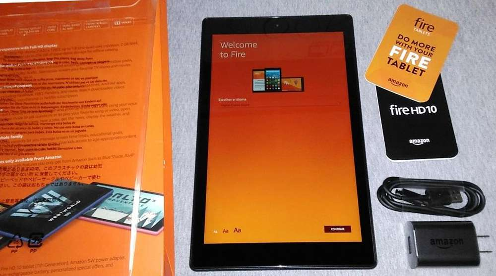 Tablet NUEVA AMAZON Black Fire HD10 de 10,1 Pulgadas de 32 Gigabytes almacenamiento 2 GB de RAM con ALEXA de Amazon