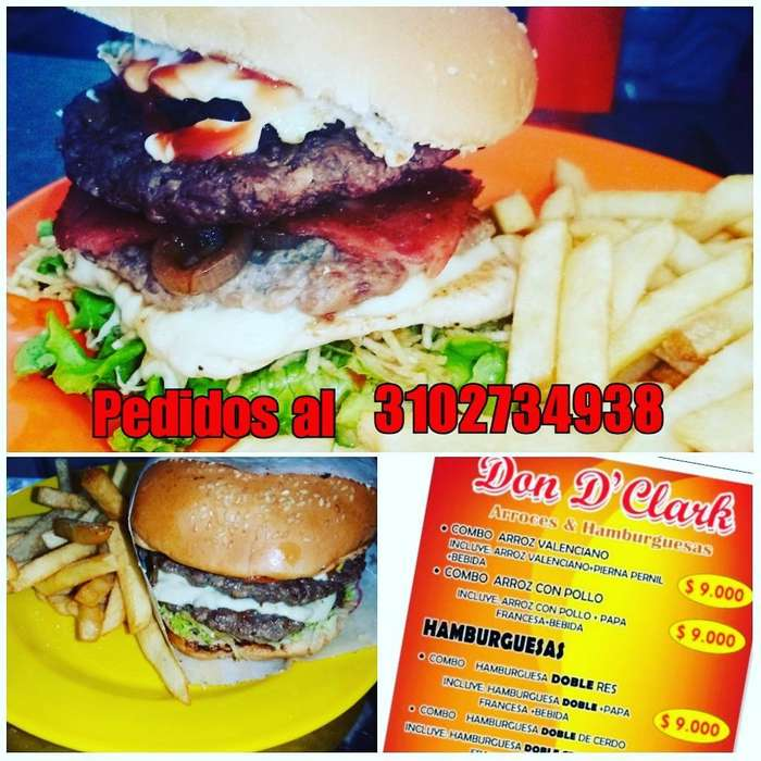 Hamburguesas Restaurante Dond Clark